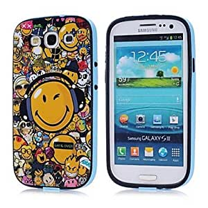 GHK - Smiling Face Pattern TPU + PC 2-in-1 Hard Case Cover for Samsung Galaxy S3 I9300