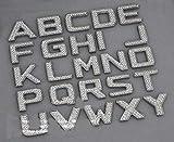 2010 camaro emblems - TRUE LINE Automotive Customized Iced Out Crystal Diamond Chrome Letters Emblem Badge Kit