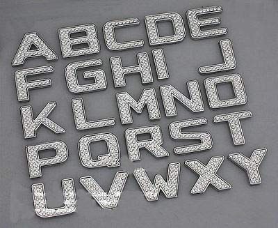 TRUE LINE Automotive Customized Iced Out Crystal Diamond Chrome Letters Emblem Badge Kit (06 Scion Tc Emblem)
