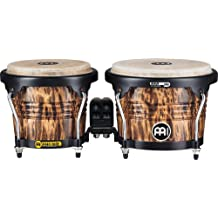 Meinl Percussion Bongos with Wood Shells, Leopard Burl Finish-NOT Made in China, Free Ride Suspension System and Natural Skin Heads, 2-Year Warranty (FWB190LB)