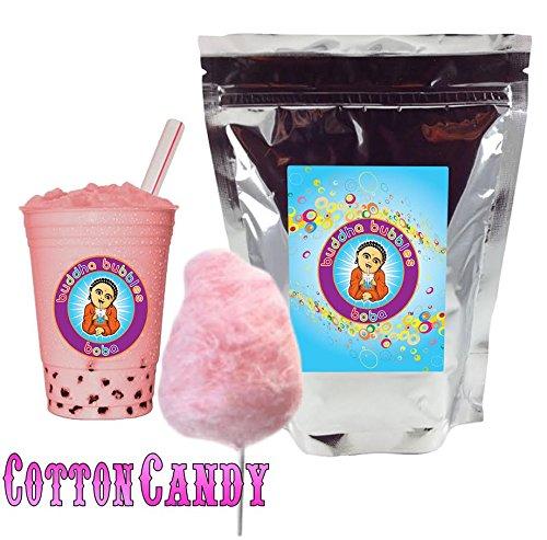 Cotton Candy Boba / Bubble Tea Drink Mix Powder By Buddha Bubbles Boba 10 Ounces (283 Grams)