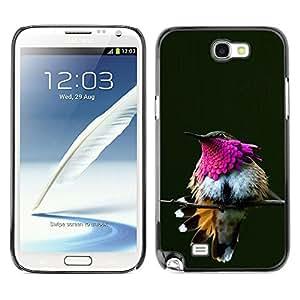 Planetar® ( Purple Green Branch Feathers Beak ) SAMSUNG Galaxy Note 2 II / N7100 Fundas Cover Cubre Hard Case Cover