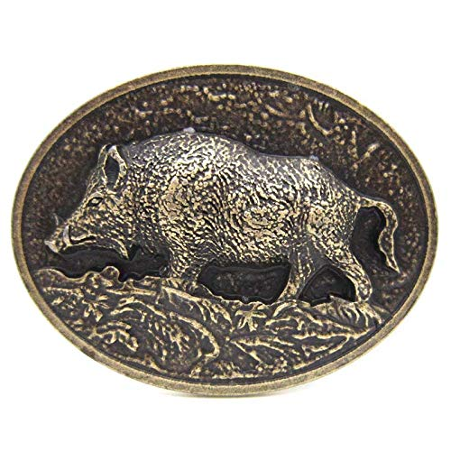 Brass Wild Boar Pig Hog Belt Buckle Native Western Cowboy … (brass)