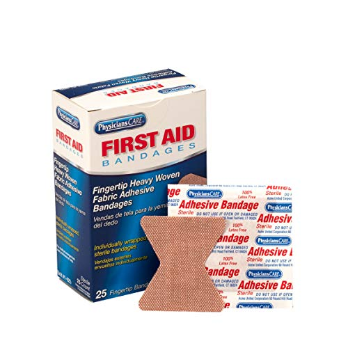 Pac-Kit by First Aid Only 1-925 Woven Fingertip Bandage (Box of 25)