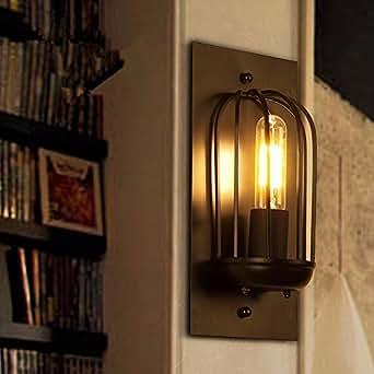 QIMLIGHT Plug in Wall Sconce Modern Wall Lamp Industrial ...
