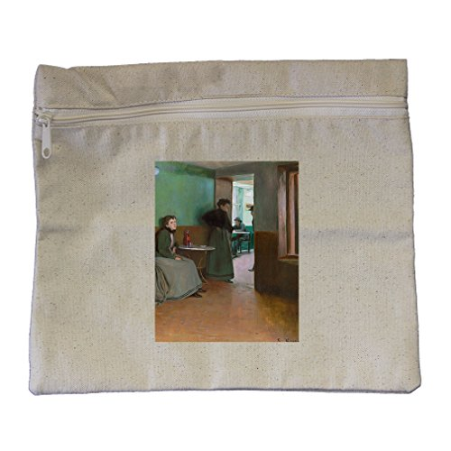 Interior Cafe In Spain (Santiago Rusinol) Canvas Zippered Pouch Makeup Bag by Style in Print