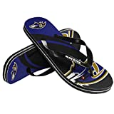 NFL Baltimore Ravens Youth 2015 8-16 Big Logo Flip Flop, Large, Black