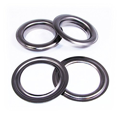 Trimming Shop 50 X Gun Metal Eyelets With Washers For Banners And Leather Crafts - Grommets For Adding Ribbons,Lacing And Fabric Art And Sewing Projects - Ideal For,Clothing And Scrapbooking 20Mm - Snap On Grommets
