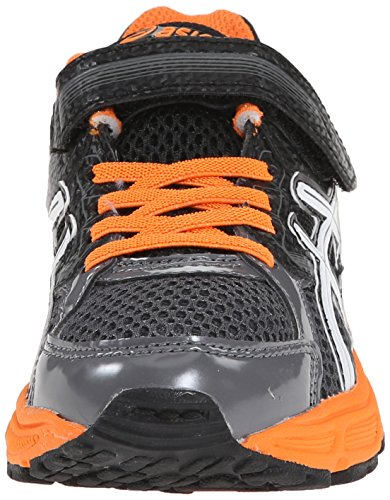 ASICS Pre Contend 3 PS Running Shoe (Little Kid), Carbon/White/Orange, 1.5 M US Little Kid