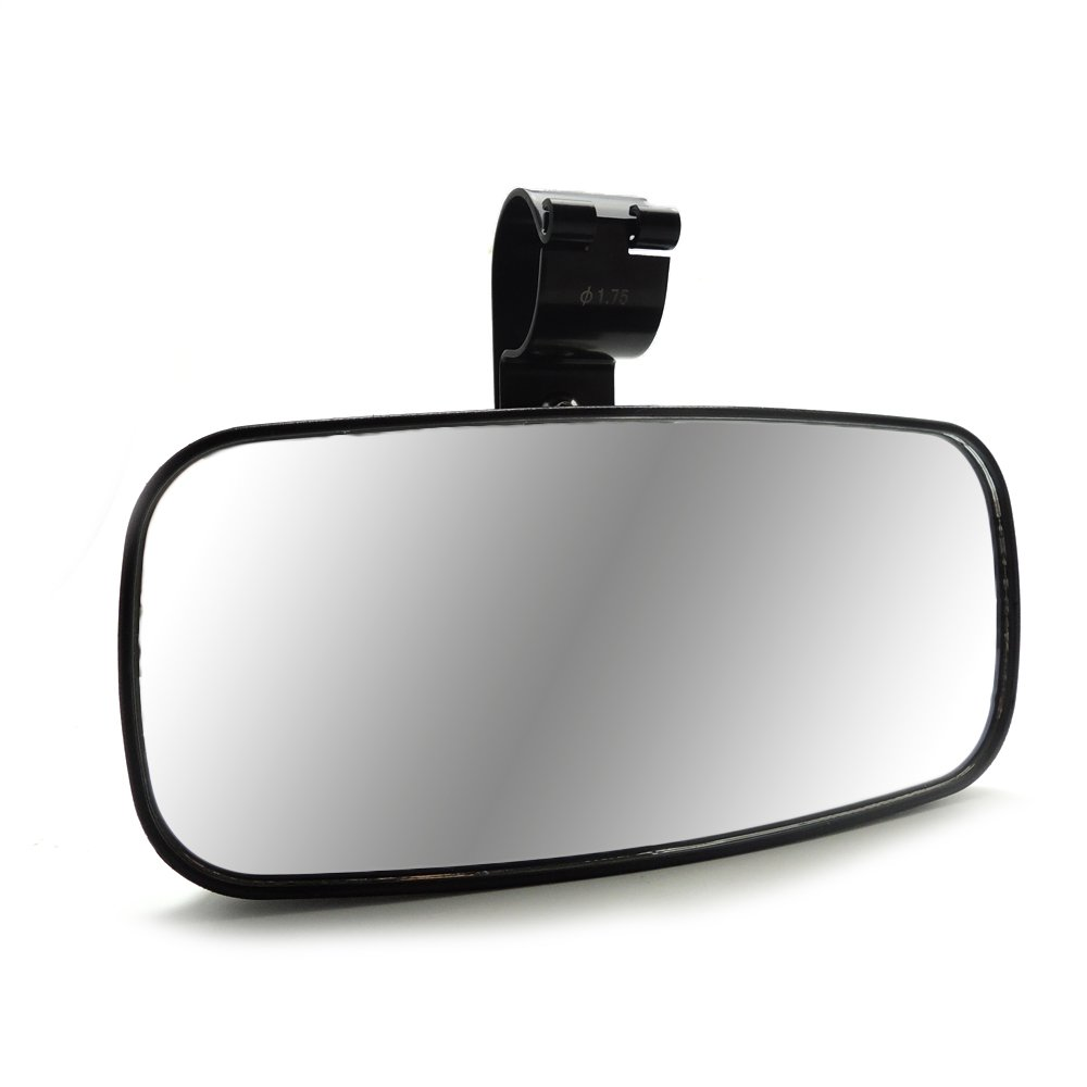 KEMIMOTO, UTV Rear View Mirror with 1.75 Inch Rust-Proof Iron Brackets for RZR Side by Side Adjustable