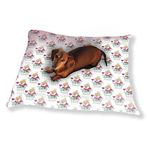 Lovely Snowman Dog Pillow Luxury Dog / Cat Pet Bed by uneekee (Image #2)