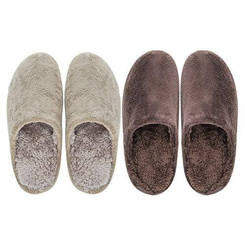 Women's Knitted Foam Beige Comfy Memory Fuzzy Indoor On House Slip Cute Slippers rqfTxBr