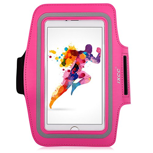 iPhone 6 Plus Armband, iXCC Trek Series Sport Gym Running Armband with Dual Arm-Size Slots for Apple iPhone 6 Plus / 6s Plus, iPod MP3 Player - Pink