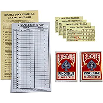 Amazon.Com: Pinochle Score Pad Pack Of 2: Two-40 Page Score Pads