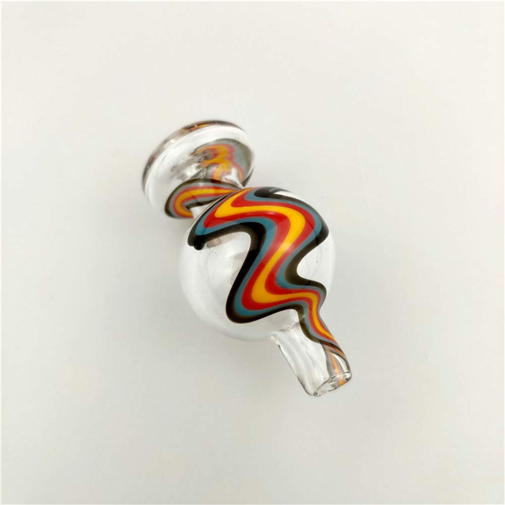 LLY-Glass Colorful Ripple Colorful Glass Cover Cap Random Color 1 Piece