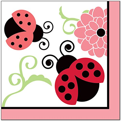 Birthday Direct Pink Ladybug Lunch Disposable Birthday Party 7