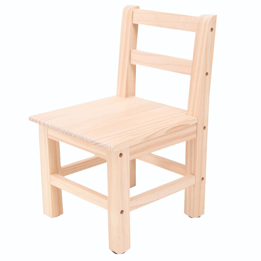 TangMengYun Modern Solid Wood Backrest Chair Portable Small Bench Fishing Chair Wood Color