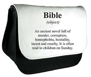 Biblia definición Funny alternativa no en el diccionario embrague bolsa o estuche, color negro talla única: Amazon.es: Oficina y papelería