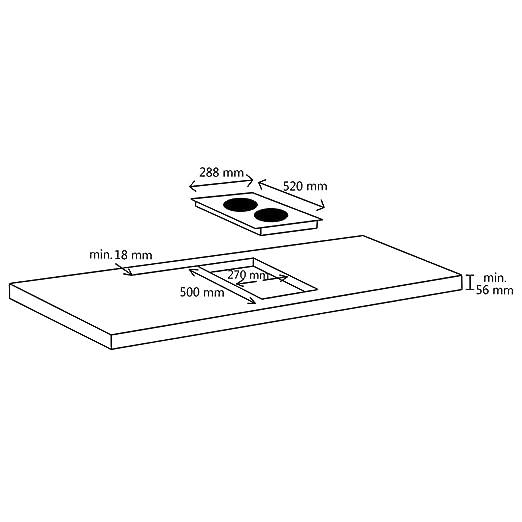 vidaXL Placa Vitrocerámica de Inducción con 2 Quemadores ...