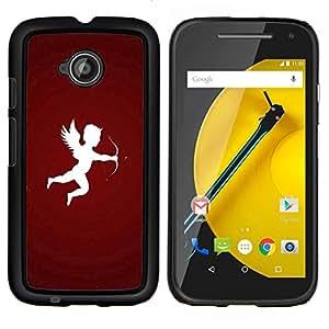 For Motorola Moto E2 E2nd Gen Case , Diseñar flecha de Cupido- Diseño Patrón Teléfono Caso Cubierta Case Bumper Duro Protección Case Cover Funda