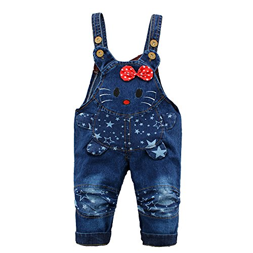 Kidscool Baby Cotton Denim Cartoon Mouse - Infant Girls Denim Pants Shopping Results
