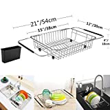 SANNO Expandable Dish drying Rack,Over the Sink