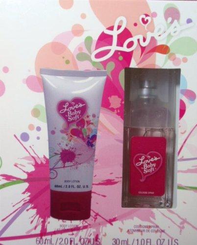 Love's Baby Soft Cologne Spray 1.0oz Lotion 2.0oz Gift Box - Love Baby Moisturizing