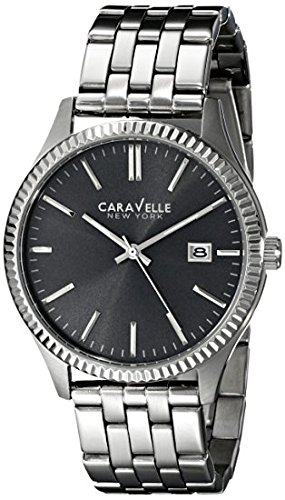 Caravelle New York Men's 43B131 Analog Display Japanese Quartz Silver Watch