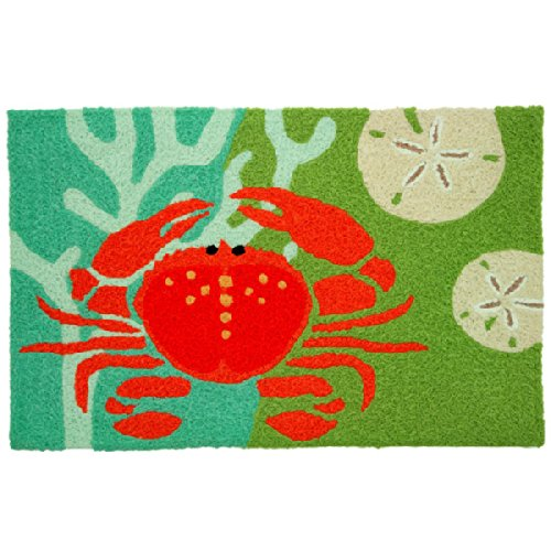 Coastal Red Crab With Coral Jellybean Accent Area Rug