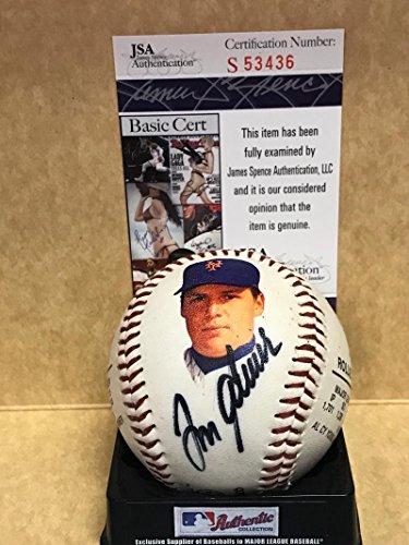 TOM SEAVER/ROLLIE FINGERS 1992 HALL OF FAME SIGNED BASEBALL 1129/2300 JSA S53436 - Rollie Fingers Autographed Baseball