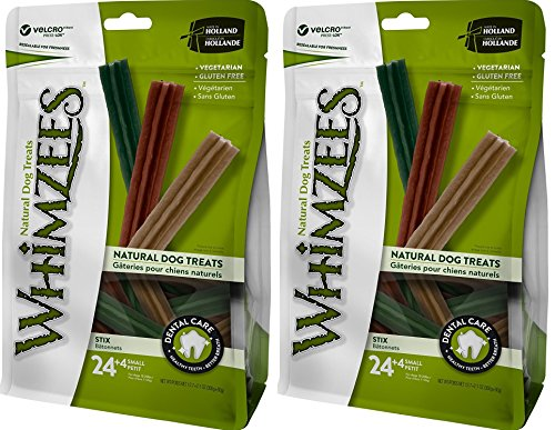2 Pack Whimzees Natural Grain Free Dental Dog Treats Stix, Size Small