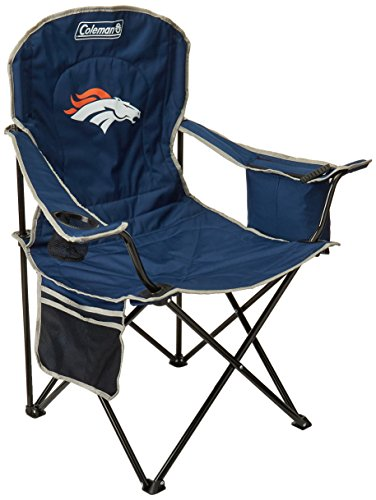 NFL Portable Folding Chair with Cooler and Carrying (Denver Broncos Gear)