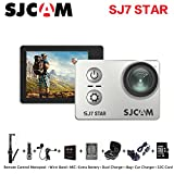 Newest Original SJCAM SJ7 Star Sport Action Camera 4K 30fps Ultra HD 1080P Action Cam 2.0'' Touch Screen Waterproof Sport DV Camera (Silver)