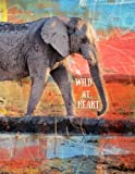 Wild At Heart: Elephant Notebook; Composition Book; Journal; Back to School; Wide Ruled Lined 8.5x11 for Students, Kids, Teachers, Notes; Painted Red, ... (Animal Notebooks and Journals) (Volume 1)
