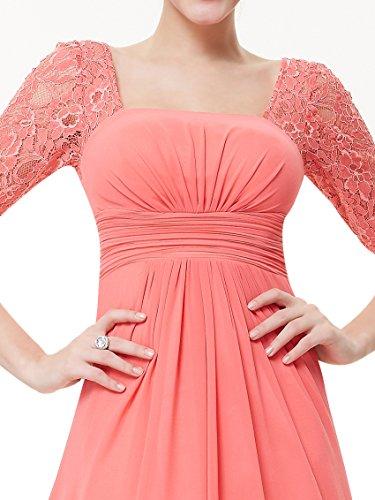 Ever-Pretty HE08038WH08 - Vestido para mujer Coral