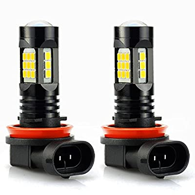 JDM ASTAR 2400 Lumens Extremely Bright PX Chips LED Fog Light Bulbs for DRL or Fog Lights, Gold Yellow
