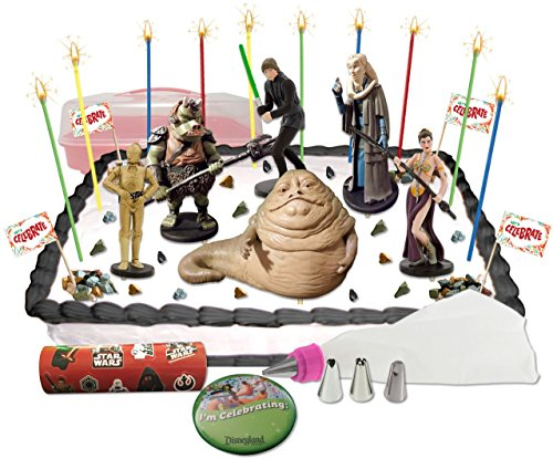 [Disney Star Wars Return of the Jedi Deluxe Cake / Cupcake Topper Decorating Kit] (Pebbles Child Costumes)