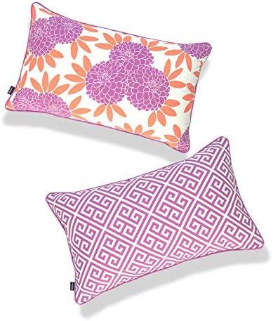 Hofdeco Spring Garden Indoor Outdoor Lumbar Pillow Cover ONLY