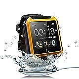 "Aberobay U TERRA Watch Travel Tricks 2.0"" 1.3MP Ip68 Waterproof Shockproof Dustproof Bluetooth 4.0 Smart Watch Smartwatch Touch Screen-Yellow"