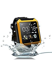 "Aberobay U TERRA Watch Travel Tricks 2.0"" 1.3MP Ip68 Waterproof Shockproof Dustproof Bluetooth 4.0 Smart Watch Smartwatch Touch Screen-Yellow"