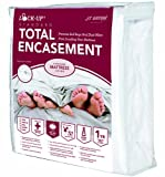 JT Eaton 83QUENC Fabric Lock-Up Queen Sizes Premium Total Encasement Mattres Cover, 80'' Length x 60'' Width, 16'' Thick (Case of 6)