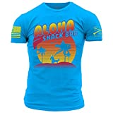 Grunt Style Aloha Snackbar 2.0 Men's T-Shirt, Color Blue, Size Medium