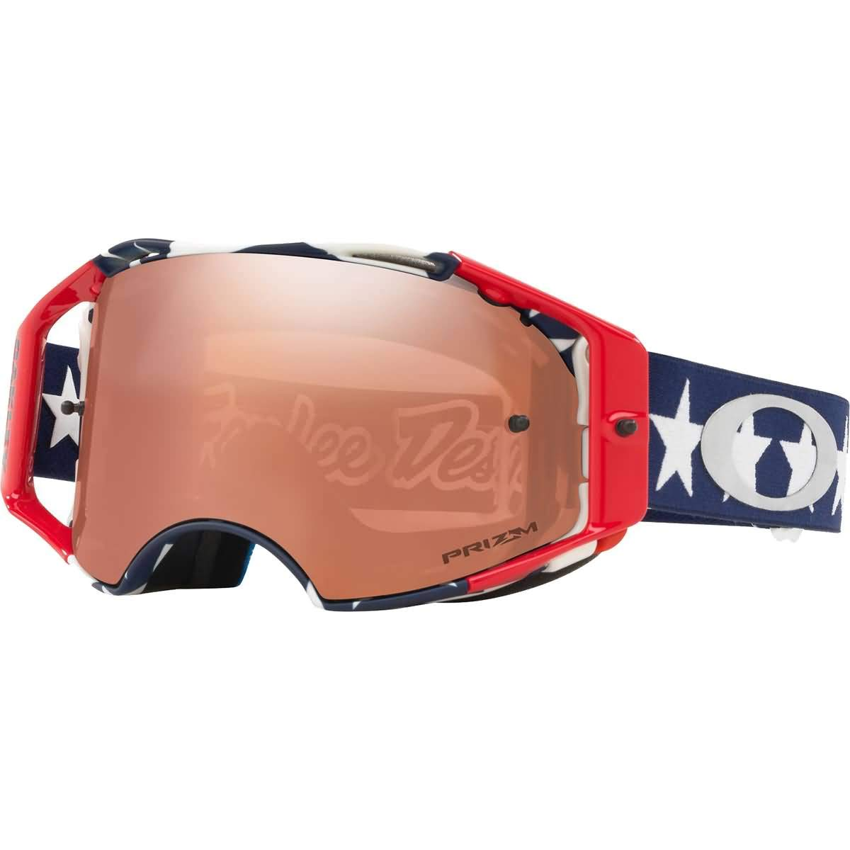 Oakley Airbrake MX Troy Lee Design Series Adult Off-Road Motorcycle Goggles - Liberty RWB/Prizm Black/One Size by Oakley