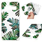 Galaxy S10 Case, Cover Ultra Slim HD Clear & Full TPU Soft Frame Hybrid Shockproof Bumper Drop Pretective Skin Shell for Galaxy S10, Banana Leaf