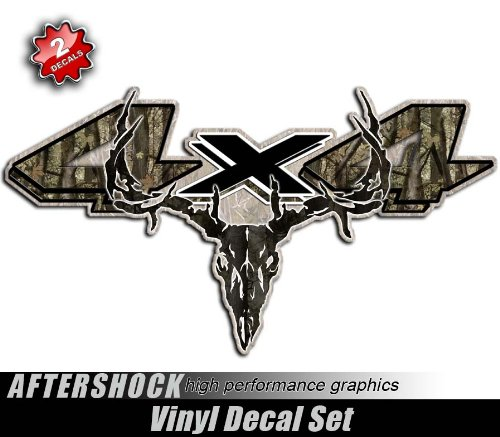 4x4 Ram Truck Camo Sticker Hunting Skull Archery Decal