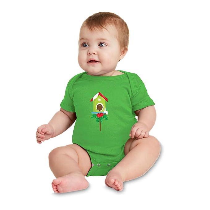 Superb Amazon Com Christmas Green Bird House Boys Girls Cotton Download Free Architecture Designs Scobabritishbridgeorg