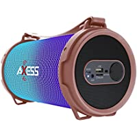 AXESS SPBL1045RG Maxi Portable Bluetooth Hi-Fi Bluetooth Speaker with Dancing LED Lights, Rose Gold