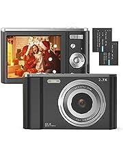 "Digital Camera, FamBrow 2.7K Ultra HD 44 MP Vlogging Camera with 16X Digital Zoom,Point & Shoot Digital Camera with 2.88"" LCD Screen Compact Portable Mini Camera for Beginner,Teens, Kids (Black) photo"