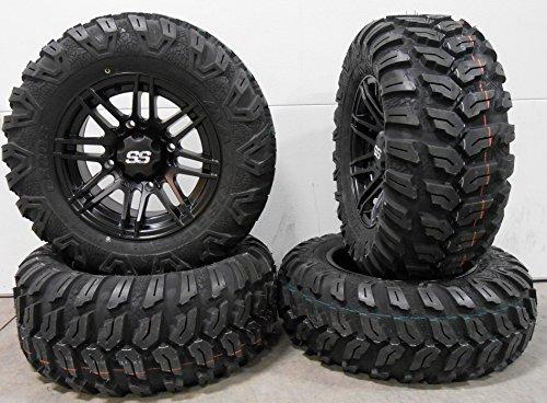 "Bundle - 9 Items: ITP SS316 14"" Wheels Black Ops 26"" Ceros Tires [4x156 Bolt Pattern 3/8x24 Lug Kit]"