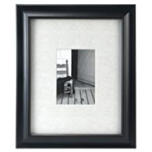 Malden International Designs Barnside Portrait Gallery #10 Matted 5 by 7-inch or 11 by 14-inch without Mat Textured Mat Black Picture Frame